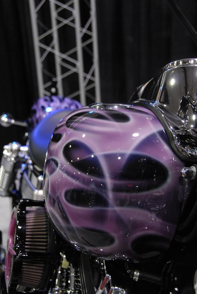 Purple and black Harley