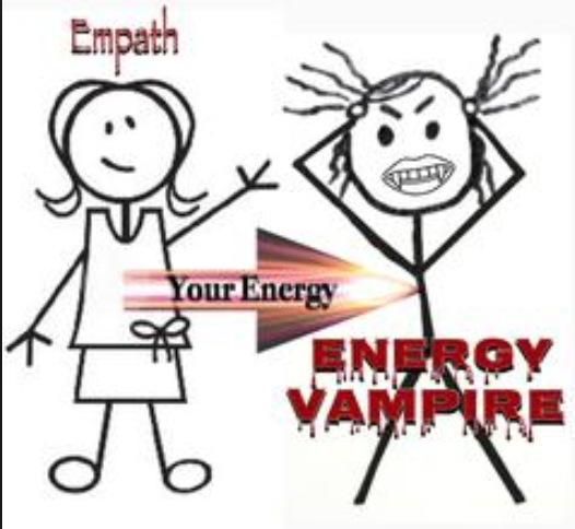 funny cartoon about energy vampires